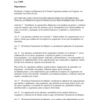 LEY N° 27499_ LEY MICAELA DE CAPACITACIÓN OBLIGATORIA EN GÉNERO PARA TODAS LAS PERSONAS QUE INTEGRAN LOS TRES PODERES DEL ESTADO.pdf