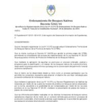 DECRETO Nº 5242-14 REGLAMENTARIO DE LA LEY Nº 13.372 -EL FONDO PROVINCIAL DE COMPENSACIÓN POR BOSQUE.pdf