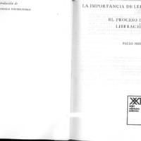 La importancia de leer y el proceso de liberación, Freire.pdf